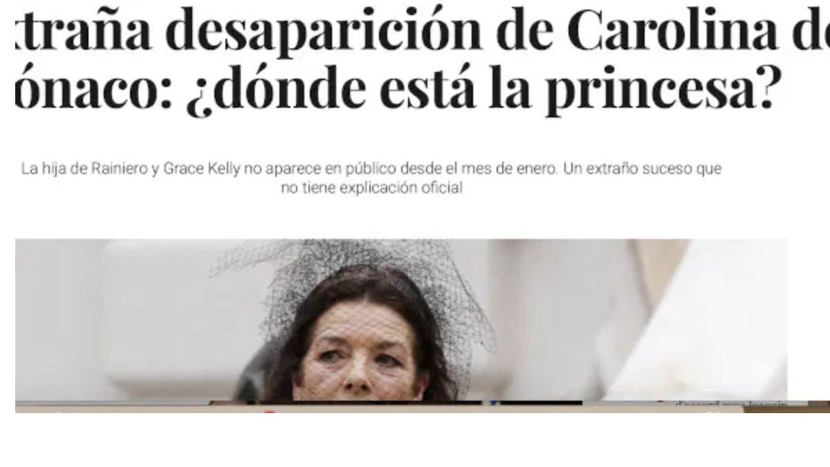 Caroline de Monaco disparue: les détails de son absence!
