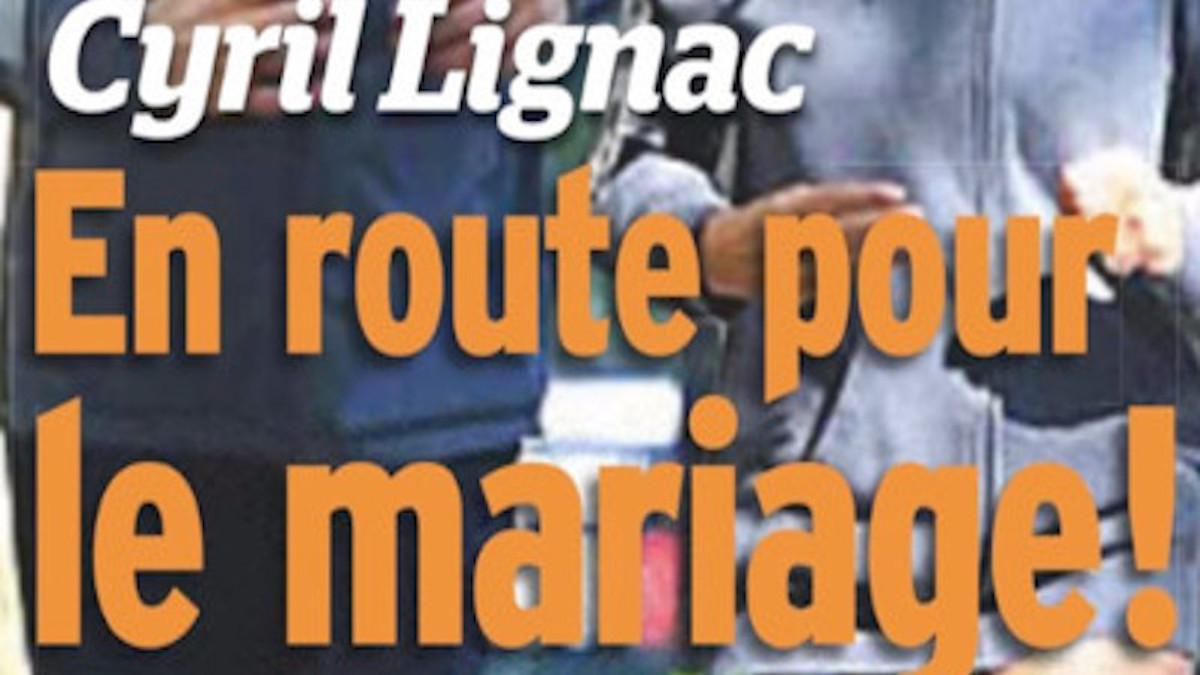 Cyril Lignac attend un bébé , le bébé va assister au mariage de ses parents.