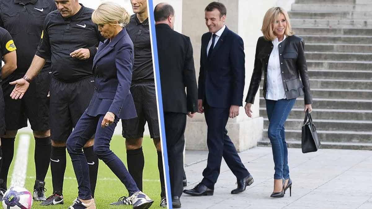 Brigitte Macron en jean moulant et veste originale pour un look très spectaculaire — vous validez?