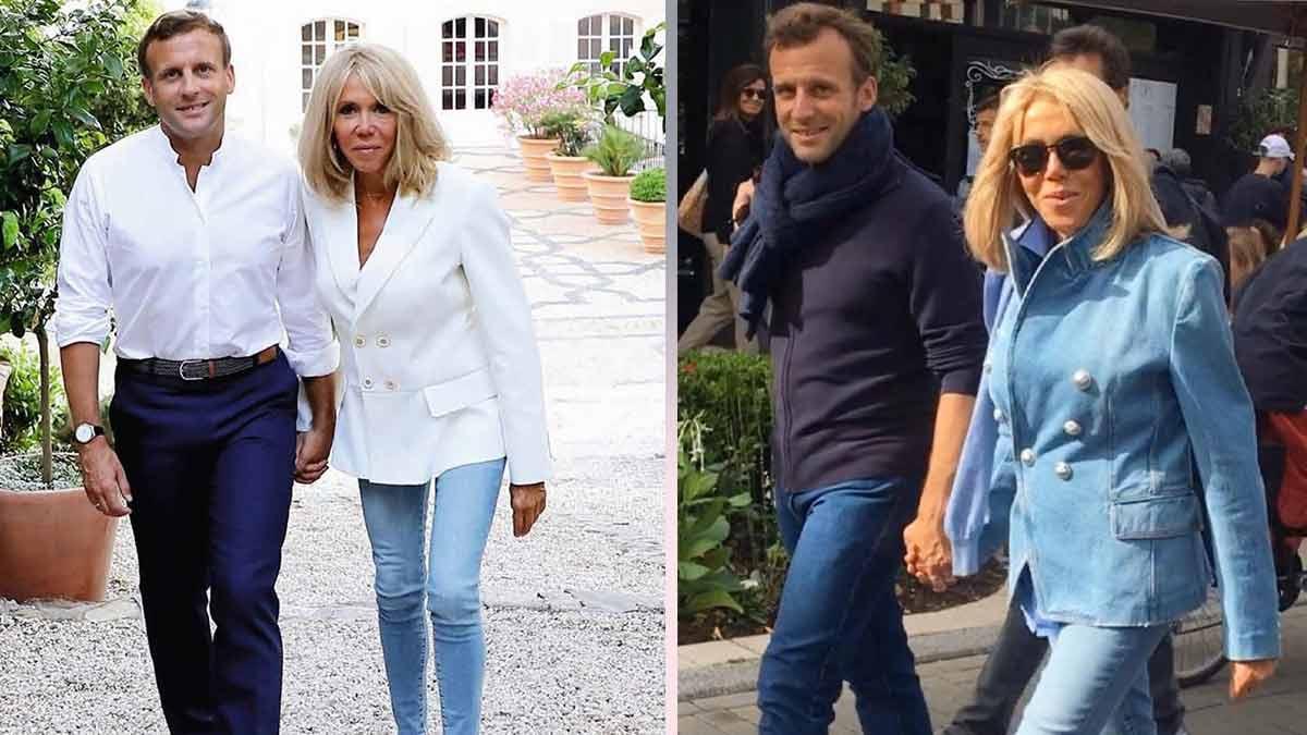 Brigitte Macron : sublimissime en jeans moulants et en blazer