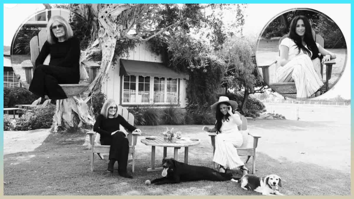 Meghan Markle «à la maison» : avec Gloria Steinem et ses chiens