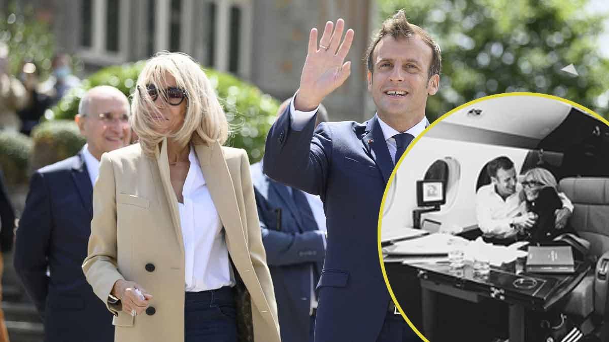Brigitte et Emmanuel Macron enlacés, cette photo très intime divulguée, la toile choquée !