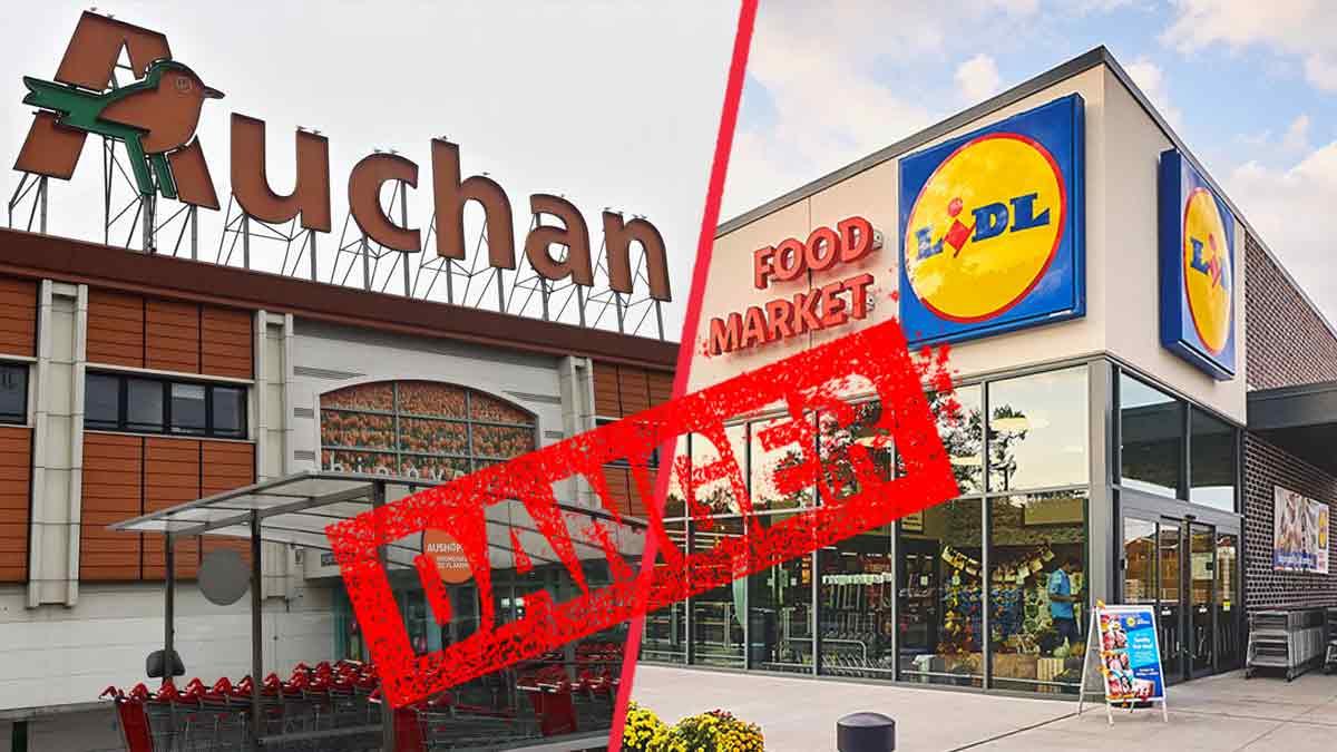 Lidl et Auchan rappellent de toute urgence des produits alimentaires qui peuvent nuire à la santé des consommateurs
