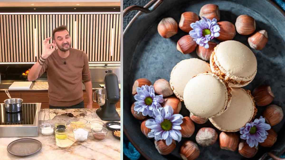 Recette de macarons amande-noisette de Cyril Lignac «Tous en cuisine»