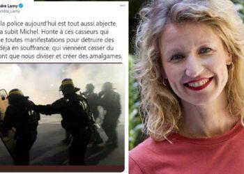 Alexandra Lamy violemment critiqué après avoir publié un message de soutien aux policiers